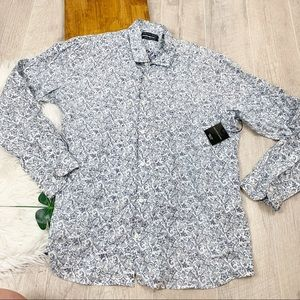 Saks 5th Ave Printed Slim Fit Button Down Shirt Xl